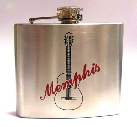 Flask Memphis Guitar Stainless Steel -5 oz-