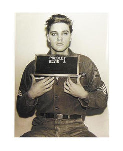 Elvis Magnet Enlisting Photo