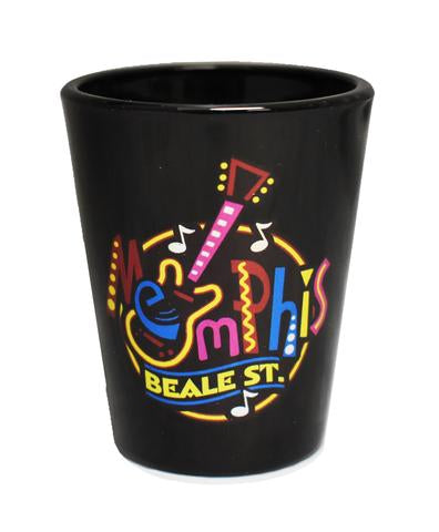 Shot Glass Memphis Round Neon