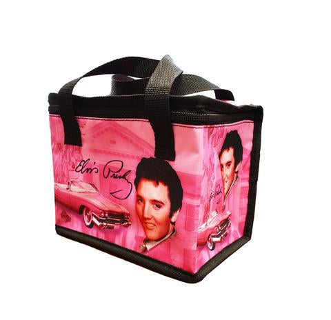 Lunch Bag Elvis Pink W/ Guitars