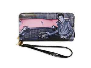 "Elvis wallet with car zipper -7.5"" x 4"" -"