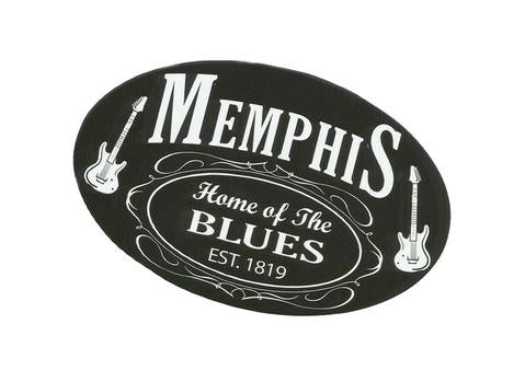 Sticker Memphis Oval Black and White EST