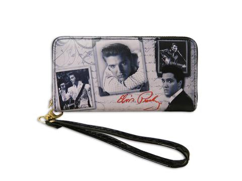 "Elvis Wallet Frames with zipper - 7.5"" x 4""-"