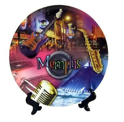 Plate Memphis Collage W/ Microphone -W/Stand