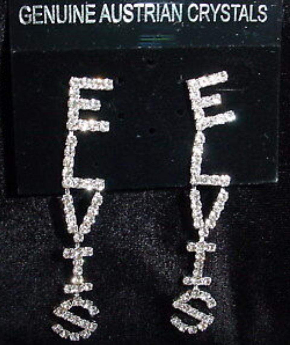 Earrings Elvis Rhinestone Clear