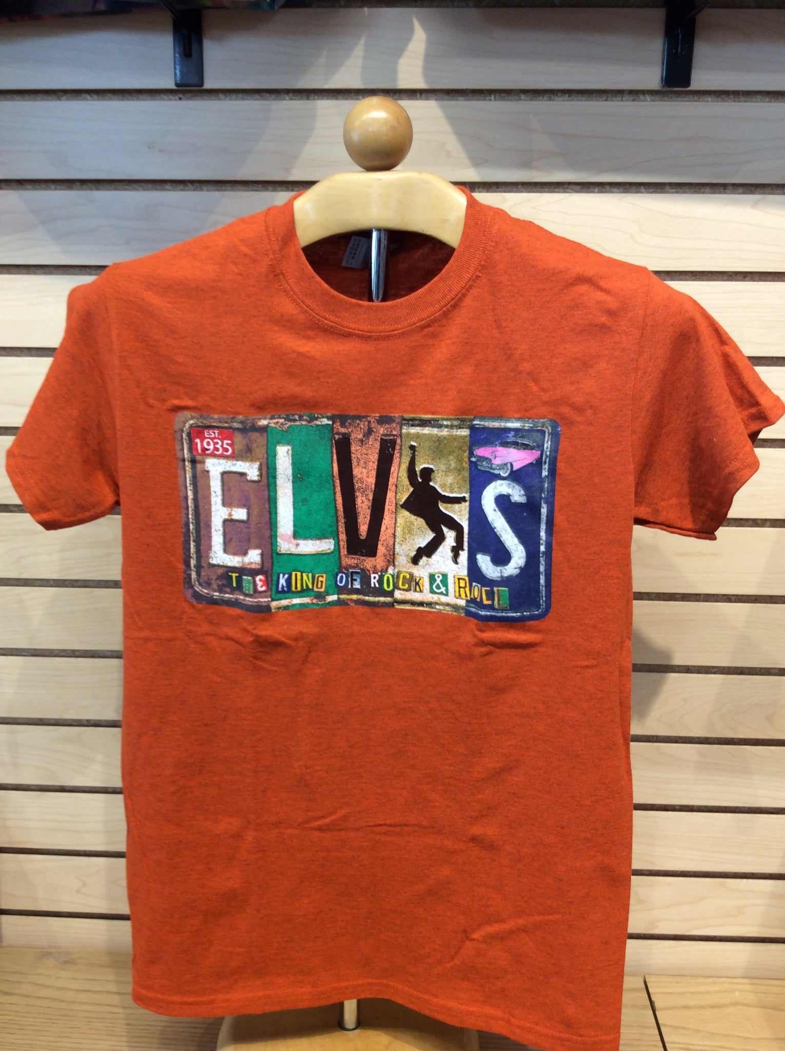 T-Shirt Elvis Vintage License Plate Orange