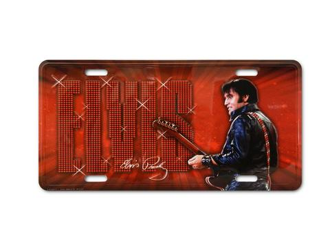 License Plate Elvis Red '68