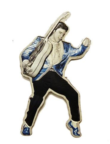 Wall Sign Elvis Blue Suede Shoes