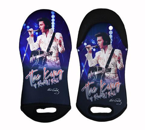 Oven Mitt Elvis The King Blue w/ White Jumpsuit