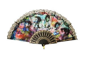Hand Fan Elvis Colorful