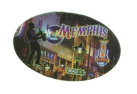Sticker Memphis Oval Blues Man