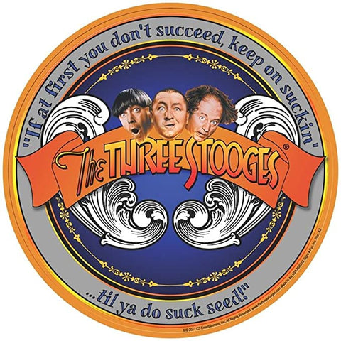 3 Stooges Succeed Round Sign
