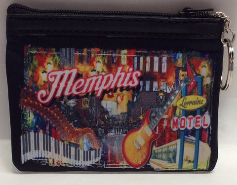 Coin purse Memphis Collage piano