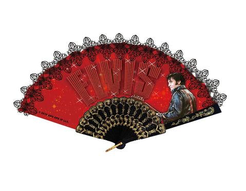 Hand Fan Elvis Red '68 Name