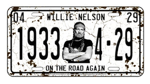 License Plate Willie Nelson On The Road