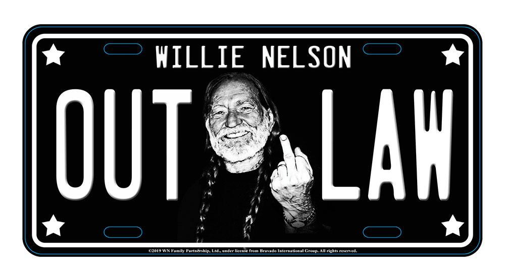 License Plate Willie Nelson Outlaw