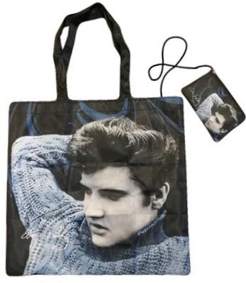 Reuseable Shopping Bag Elvis Blue Sweater