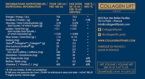Collagen Lift Paris : Men (28 Ampoules X 10ml)