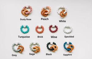 Silicone  Beaded Rattle Rings