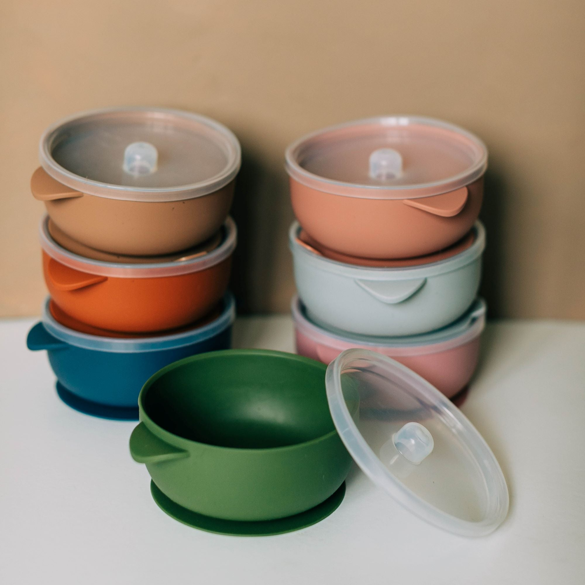Neutral Tones Silicone Bowls