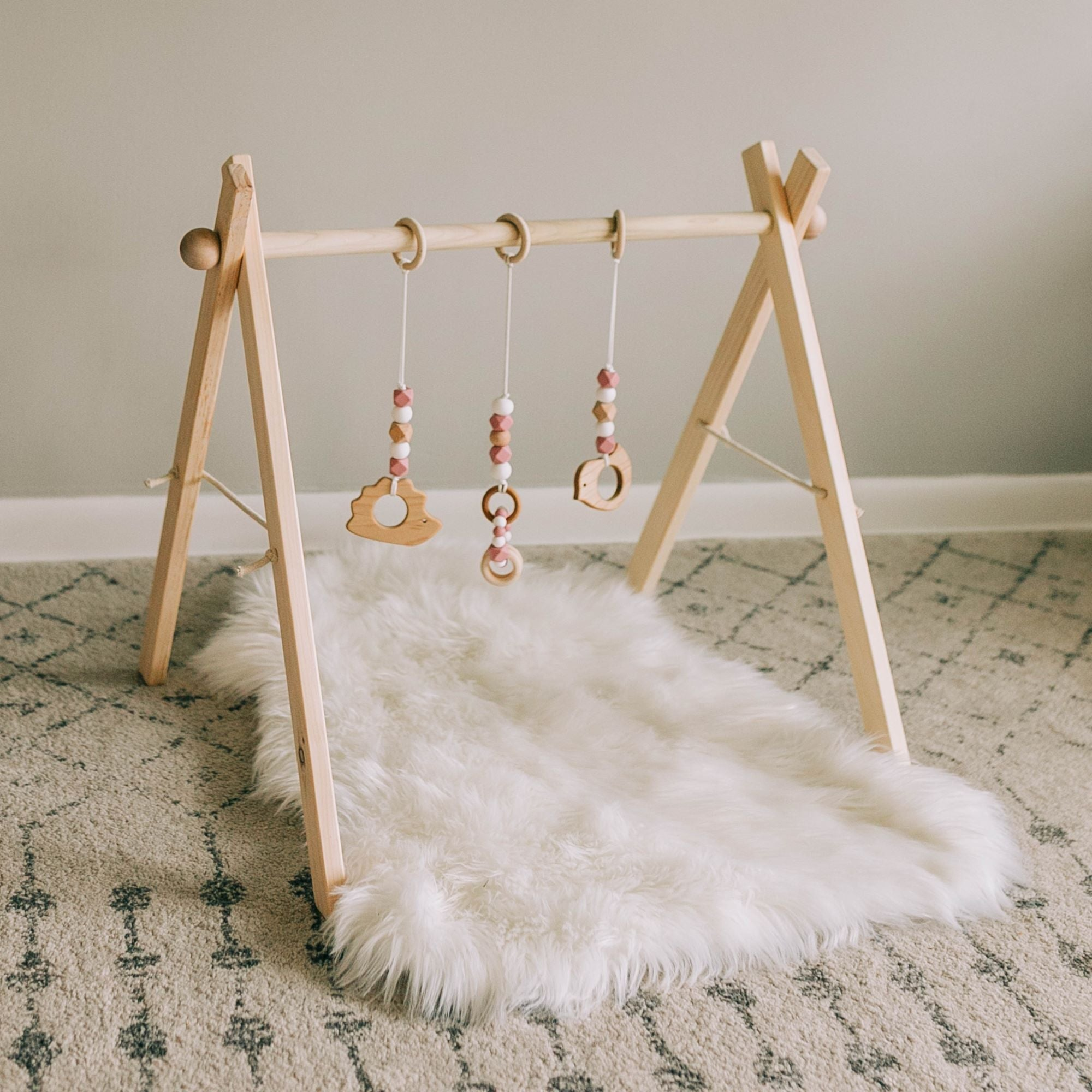 Classic Dusty Rose Baby Play Gym