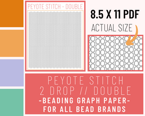 Double // 2 Drop Peyote - Graph Paper PDF