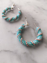 Load image into Gallery viewer, Beaded Hoops - Sherbet