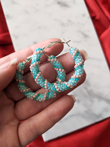 Beaded Hoops - Sherbet