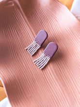 Load image into Gallery viewer, Dune Studs - Mini Purple Opal