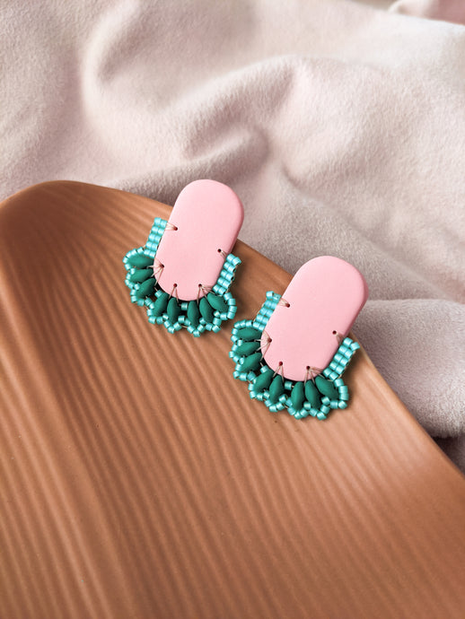 Oval Stud - Watermelon