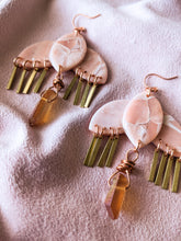 Load image into Gallery viewer, Moff - Crystal & Brass Fringe - Rose Quartz