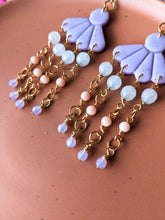 Load image into Gallery viewer, Magnolia - Lilac - Faceted Amazonite, Bamboo Coral, Swarovski - Buffed