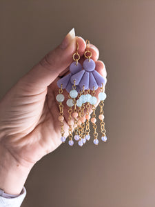 Magnolia - Lilac - Faceted Amazonite, Bamboo Coral, Swarovski - Buffed