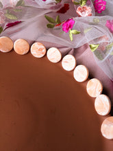 Load image into Gallery viewer, Circle Stud - Small - Peach Rose Quartz