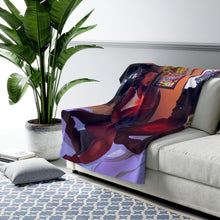 Load image into Gallery viewer, Broken Clocks Fleece Blanket