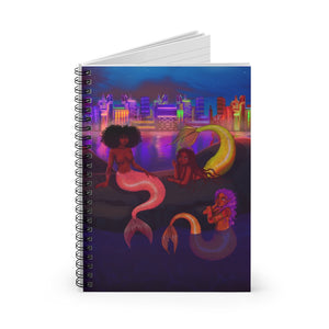 Mermaid Chat Spiral Notebook (Ruled Line)