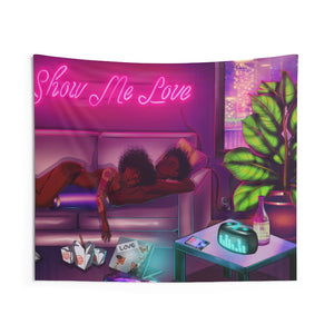 Show Me Love Indoor Wall Tapestries