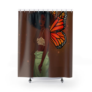 CoaCoa Flutter Kisses Shower Curtains