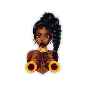 SunFlower Lady Sticker