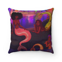 Load image into Gallery viewer, Mermaid Chat Polyester Pillow