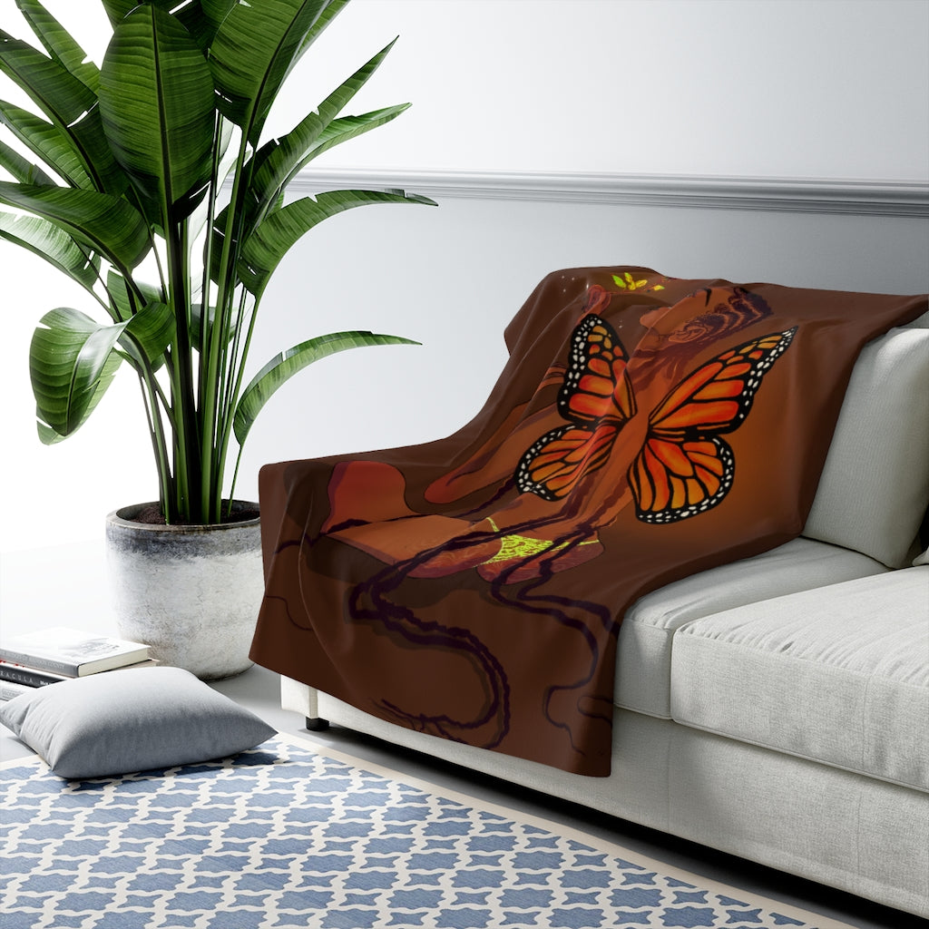 MetamorphoSista Fleece Blanket