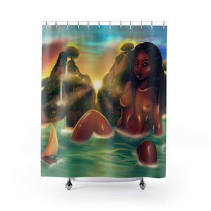 Her Discovery Shower Curtains