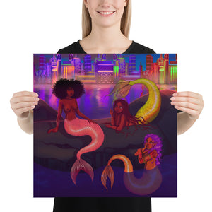 Mermaid Chat Poster