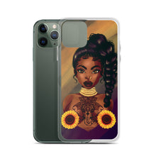 Load image into Gallery viewer, Sunflower Lady iPhone Case