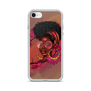 Orchid Flower Lady iPhone Case