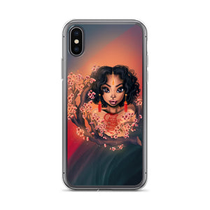 Cherry Blossom Lady iPhone Case