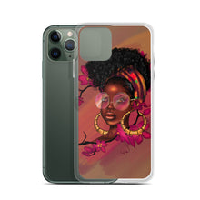 Load image into Gallery viewer, Orchid Flower Lady iPhone Case