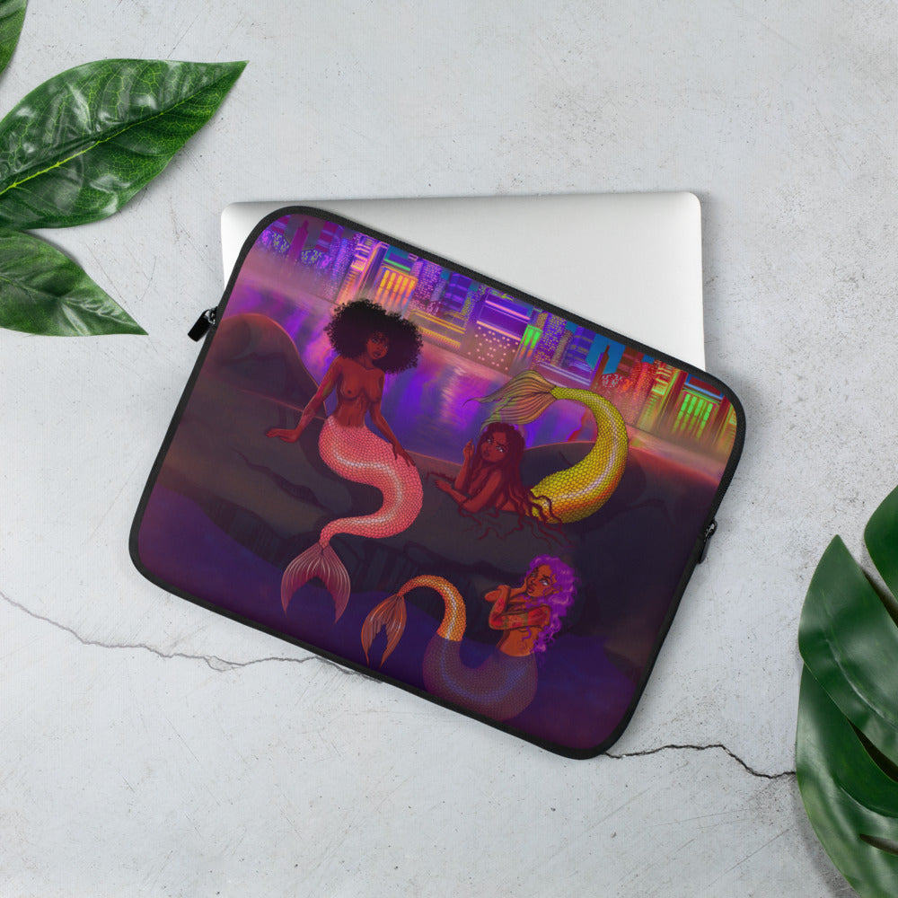 Mermaid Chat Laptop Sleeve