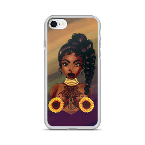 Sunflower Lady iPhone Case