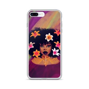 Lily Flower Lady iPhone Case